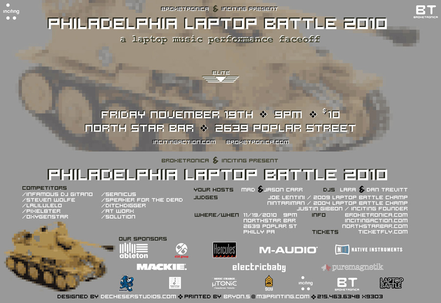 2010 Philly Laptop Battle flyer